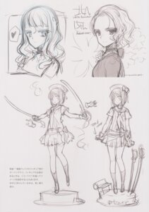 Rating: Questionable Score: 5 Tags: oyari_ashito seifuku shoujo_kishidan sketch sword tagme User: Radioactive