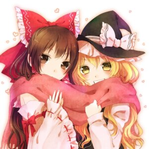 Rating: Safe Score: 31 Tags: hakurei_reimu kirisame_marisa nunucco touhou witch User: Radioactive