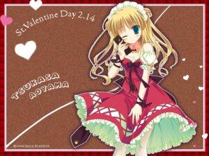 Rating: Safe Score: 21 Tags: aoyama_tsukasa natsu_yume_nagisa sesena_yau thighhighs valentine wallpaper User: charunetra