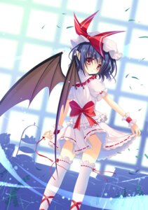 Rating: Safe Score: 46 Tags: remilia_scarlet sousouman thighhighs touhou wings User: fireattack