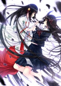 Rating: Safe Score: 26 Tags: dmm_games iwaihime kazuharu_kina miko seifuku yuri User: Mr_GT