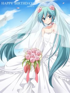 Rating: Safe Score: 25 Tags: cleavage dress hatsune_miku sudachi tattoo vocaloid wedding_dress User: charunetra