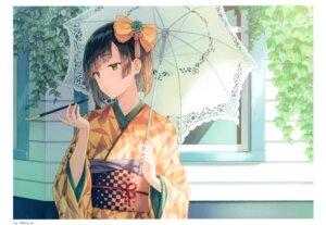 Rating: Questionable Score: 26 Tags: hiten hitenkei kimono umbrella User: Nepcoheart