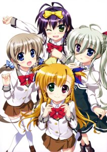 Rating: Safe Score: 32 Tags: corona_timir einhart_stratos fujima_takuya heterochromia mahou_shoujo_lyrical_nanoha mahou_shoujo_lyrical_nanoha_vivid rio_wezley seifuku skirt_lift thighhighs vivio User: drop