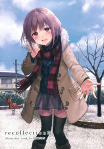 Rating: Safe Score: 68 Tags: fukahire_sanba ruinon sweater thighhighs User: Twinsenzw