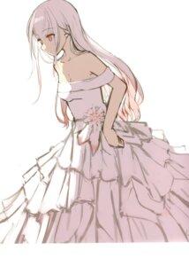 Rating: Safe Score: 15 Tags: dress nagishiro_mito sketch wedding_dress User: kiyoe