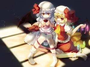 Rating: Safe Score: 18 Tags: flandre_scarlet gen-getsu remilia_scarlet touhou wings User: Mr_GT