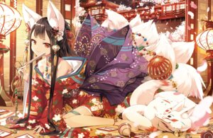 Rating: Safe Score: 77 Tags: animal_ears cura kimono kitsune open_shirt sarashi tail wallpaper User: 糖果部部长
