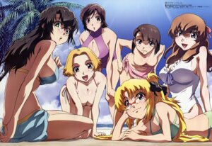 Rating: Questionable Score: 34 Tags: bikini cleavage endo_shizuna fudesaka_akinori kizaki_emi kujou_miu kurogane_no_linebarrels megane niiyama_risako ogawa_yui rachel_calvin swimsuits User: Elow69