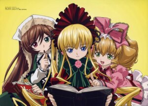 Rating: Safe Score: 15 Tags: dress gothic_lolita heterochromia hina_ichigo lolita_fashion rozen_maiden shinku suiseiseki tamura_masafumi User: SHM222