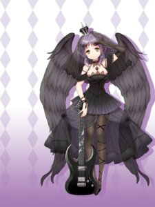 Rating: Safe Score: 38 Tags: cuteg guitar hinabita kasuga_sakiko lolita_fashion pantyhose see_through wings User: lee1238234