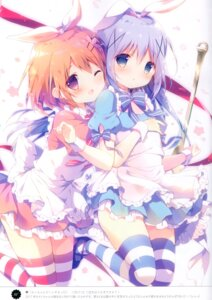 Rating: Safe Score: 64 Tags: animal_ears bunny_ears dress gochuumon_wa_usagi_desu_ka? heels hoto_cocoa kafuu_chino shiratama shiratamaco thighhighs User: kiyoe