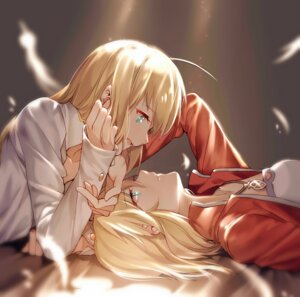 Rating: Safe Score: 33 Tags: fate/apocrypha fate/stay_night mordred_(fsn) saber yorukun User: mash