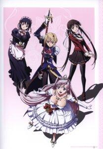 Rating: Safe Score: 33 Tags: armor charlotte_hazelrink cleavage dress fujikura_yuu maid overfiltered princess_lover! screening seifuku seika_houjouin sword sylvia_van_hossen thighhighs User: YamatoBomber