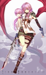 Rating: Safe Score: 40 Tags: final_fantasy final_fantasy_xiii lightning pantsu saberiii serah_farron sword User: Radioactive