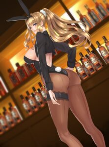 Rating: Questionable Score: 68 Tags: animal_ears ass bunny_ears bunny_girl damegane garter no_bra nopan pantyhose tail User: mash