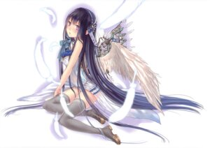 Rating: Safe Score: 60 Tags: boku_to_kimi_to_kakuusekai_to crease fixme kazuharu_kina thighhighs wings User: fireattack