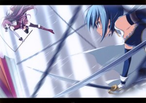 Rating: Safe Score: 20 Tags: fixed miki_sayaka puella_magi_madoka_magica sakura_kyouko suzuri sword tennenseki User: kiowa