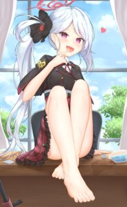Rating: Questionable Score: 33 Tags: angel asagi_mutsuki blue_archive feet pointy_ears skirt_lift uniform wet yuja_(yuja1124) User: Mr_GT