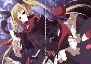 Rating: Safe Score: 14 Tags: blazblue crease dress inugami_kira rachel_alucard User: crim