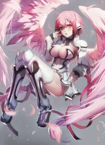 Rating: Safe Score: 86 Tags: cleavage ikaros pantsu sora_no_otoshimono thighhighs wings yuiko_(yuiko33miao) User: Mr_GT