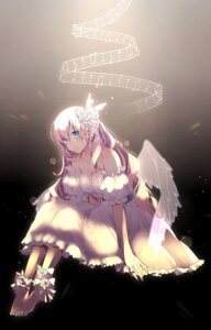 Rating: Safe Score: 33 Tags: asagao_minoru cleavage dress feet megurine_luka vocaloid wings User: sym455