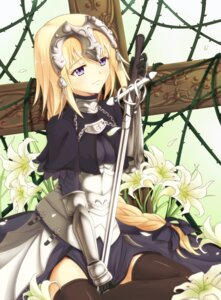 Rating: Safe Score: 54 Tags: armor fate/apocrypha fate/stay_night guhua67 ruler_(fate/apocrypha) sword thighhighs User: Mr_GT