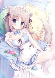 Rating: Safe Score: 33 Tags: animal_ears canvas+garden cleavage maid miyasaka_nako tail thighhighs User: lightsnow