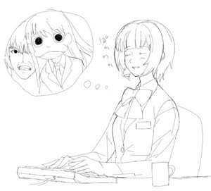Rating: Safe Score: 1 Tags: a1 initial-g monochrome otonashi_kotori sketch the_idolm@ster User: Radioactive