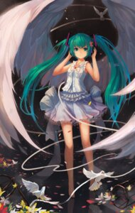Rating: Safe Score: 64 Tags: dress fom hatsune_miku headphones vocaloid wings User: charunetra