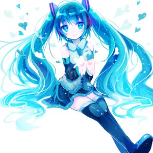 Rating: Safe Score: 39 Tags: hatsune_miku headphones kohaku_muro thighhighs vocaloid User: charunetra