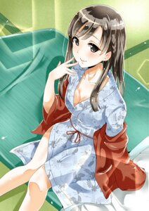 Rating: Safe Score: 38 Tags: cleavage kobayakawa_sae murabito_c open_shirt the_idolm@ster the_idolm@ster_cinderella_girls yukata User: Mr_GT