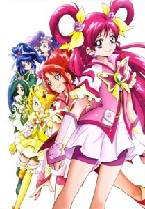 Rating: Safe Score: 8 Tags: akimoto_komachi bike_shorts dress kamikita_futago kasugano_urara mimino_kurumi minazuki_karen natsuki_rin pretty_cure thighhighs yes!_precure_5 yumehara_nozomi User: drop