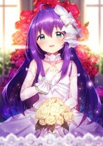 Rating: Safe Score: 26 Tags: dress mochizuki_anna shennai_misha the_idolm@ster the_idolm@ster_million_live! wedding_dress User: Dreista