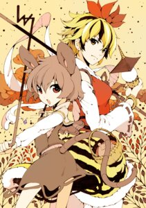 Rating: Safe Score: 7 Tags: animal_ears ichizen nazrin tail toramaru_shou touhou User: Nekotsúh