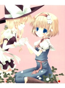 Rating: Safe Score: 7 Tags: alice_margatroid chocolate_cube fixme kirisame_marisa miwa_futaba stitchme touhou User: Radioactive