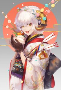Rating: Safe Score: 15 Tags: dekomoto horns kimono User: charunetra