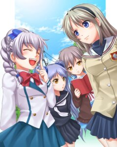 Rating: Safe Score: 23 Tags: chobipero clannad crossover full_metal_panic hoshino_ruri martian_successor_nadesico nagato_yuki sakagami_tomoyo seifuku suzumiya_haruhi_no_yuuutsu teletha_testarossa User: Radioactive
