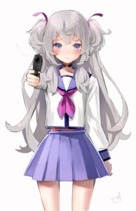 Rating: Safe Score: 16 Tags: angel_beats! cosplay gun retoriro seifuku shanoa_(vtuber) shanoa_asmr yurippe User: BattlequeenYume