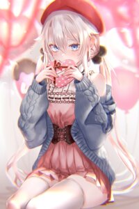 Rating: Safe Score: 44 Tags: 9a-91_(girls_frontline) dress girls_frontline pottsness sweater thighhighs valentine User: Mr_GT