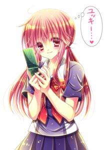 Rating: Safe Score: 16 Tags: gasai_yuno mirai_nikki momomiya_mion seifuku User: mahoru