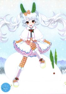 Rating: Safe Score: 6 Tags: matayoshi skirt_lift thighhighs User: fireattack