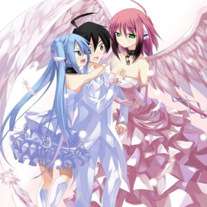 Rating: Safe Score: 24 Tags: ikaros makai_no_koutaishi nymph sakurai_tomoki sora_no_otoshimono wings User: maurospider