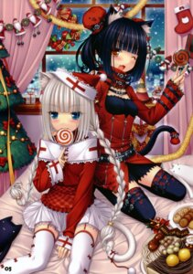 Rating: Safe Score: 98 Tags: animal_ears chocola lolita_fashion neko_works nekomimi sayori tail thighhighs vanilla User: midzki