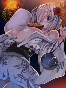 Rating: Questionable Score: 53 Tags: cleavage hamakaze_(kancolle) kantai_collection no_bra open_shirt torisan undressing yukata User: Mr_GT