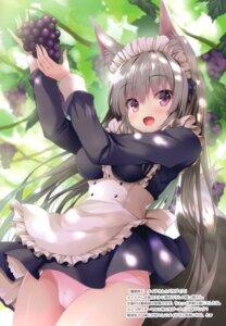 Rating: Questionable Score: 31 Tags: animal_ears cameltoe kitsune maid marvelous_grace pantsu tateha User: Arsy