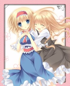 Rating: Safe Score: 13 Tags: alice_margatroid asakura_satsu kirisame_marisa touhou User: Radioactive