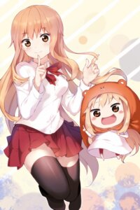 Rating: Safe Score: 67 Tags: chibi doma_umaru dress himouto!_umaru-chan qingshui_ai seifuku thighhighs User: Mr_GT