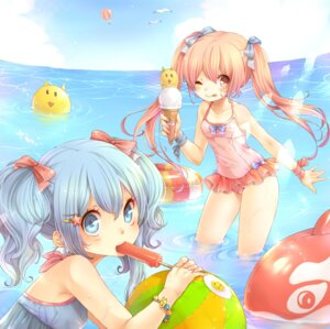 Rating: Safe Score: 23 Tags: aihara_kaori momo_bako rojiko swimsuits User: charunetra