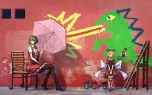 Rating: Safe Score: 25 Tags: fairy heels kazami_yuuka kikimifukuri medicine_melancholy pantyhose su-san touhou umbrella User: Mr_GT